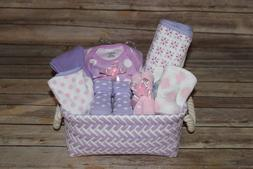 Beautiful Baby Girl Purple Gift Basket, Perfect for Shower o