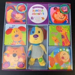 Brand New Animal Friends Boxed Baby Gift Set Brown Dog Plush