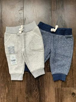 Carter's Baby Boy Blue and Grey Jogger Pants Set Size 3 Mont