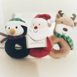 Koala Baby Christmas Plush Ring Rattles Gift Set Toy Reindee