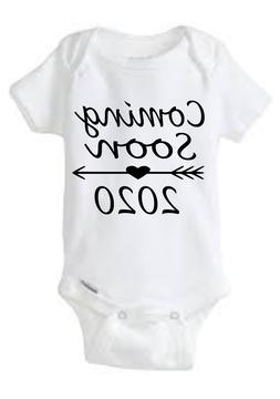 Coming Soon 2020 Gerber Onesie  Baby Shower Gift Pregnancy A