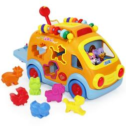 Electronic Musical Bus, Baby Sensory Toy, gifts for 1, 2 Yea