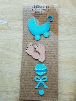 Embellish Your Story Demdaco Baby Boy Magnets set of 3 #1748