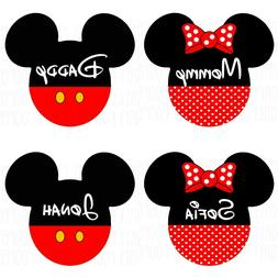Family Matching Mickey Mouse Mom Dad Baby Kid Personalized G