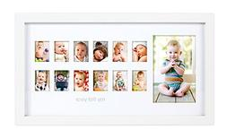 Pearhead My First Year Photo Moments Baby Keepsake Frame, Wh