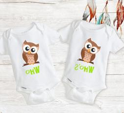 Funny Twin Matching Outfits Baby Unisex Twins Onesies Newbor