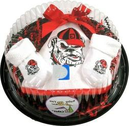 Georgia Bulldogs Piece of Cake Baby Gift Set