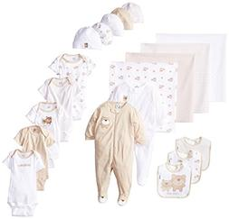 Gerber Baby Unisex' 19 Piece Baby Essentials Gift Set, Bear,