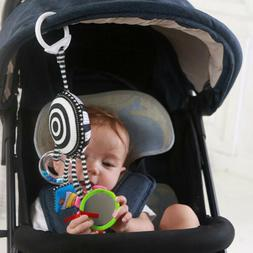 Gift Stroller Crib Mobile Toy Mirror Teether Ring Plush Infa
