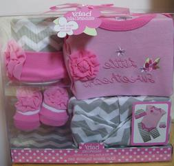 Girl Baby Essentials Little Sweetheart Pink Gray 4 Pc Boxed