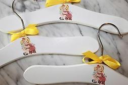 Girl with doll hangers make unique Baby Shower gifts for the