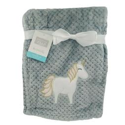 Hudson Baby Girls Plush Blanket, Unicorn, Gray, Shower Gift,
