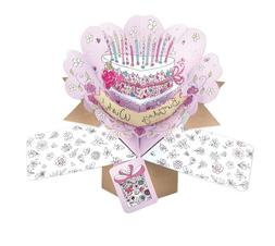 Happy Birthday Card Pop Up 3D Card Unique Luxury Gift Card M