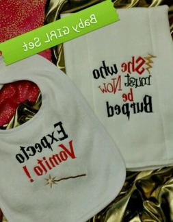 HARRY POTTER Themed BURP CLOTH & Bib for a BaBy GIRL Shower