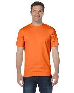 Hanes Heavyweight 50/50 Orange Safety Work Short Sleeve T-Sh