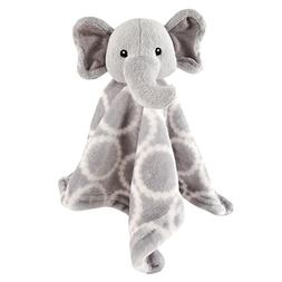 Hudson Baby Animal Friend Plushy Security Blanket, Gray Elep