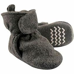 Hudson Baby Cozy Fleece Booties With Non Skid Bottom, Charco