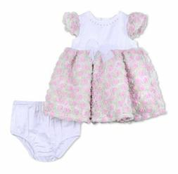 Little Me Infant Girls' Rose Party Dress&Bloomers Set, Size