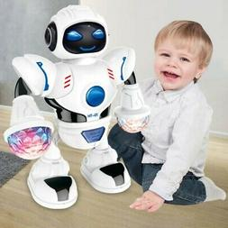 Kids Baby Dancing Musical Robot Toy Boys Rotating Smart Toys