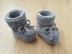 Knitted Baby Booties Baby Shoes Boys Girls Newborn Socks in