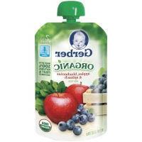 Gerber 2nd Foods Organic Baby Food Apples, Blueberries & Spi