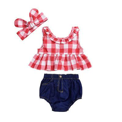 3PCS Baby Clothing Set Triangle Shorts Head Cute Outfit