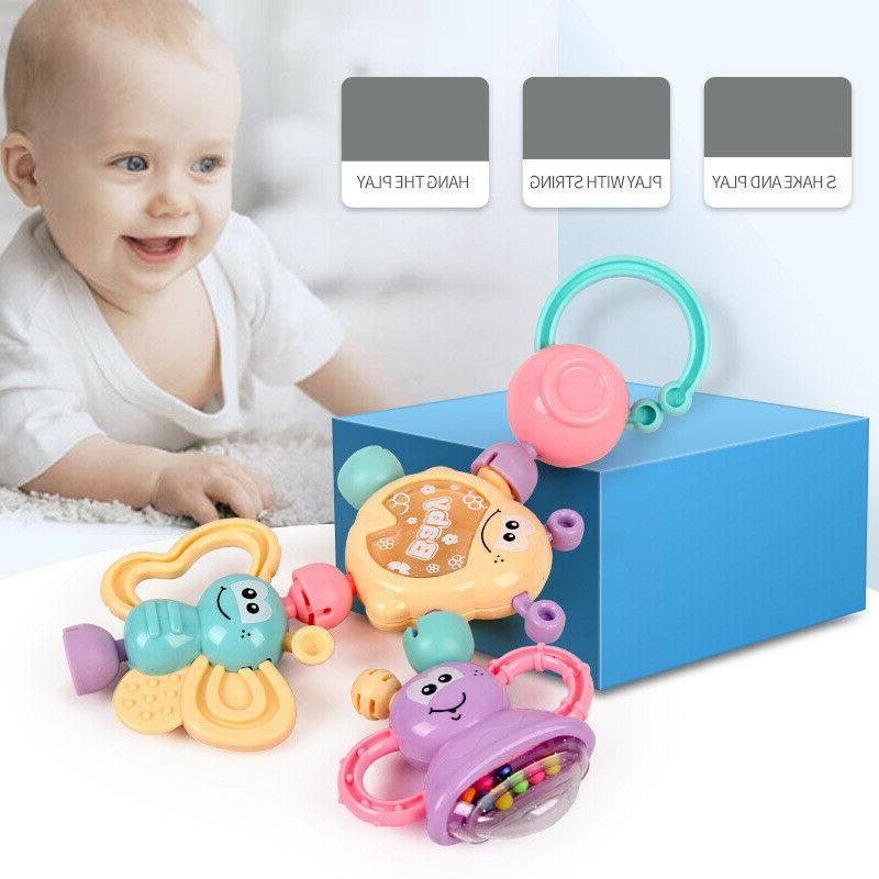 7Pcs Bell Rattles Teether Toy Gift