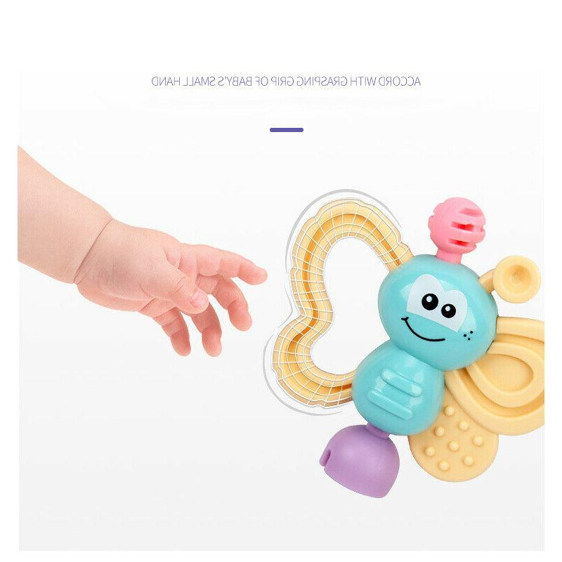 7Pcs Bell Rattles Toy Baby Gift US