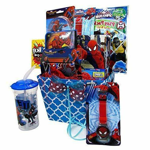 Gift Baskets For Kids Spiderman Fun & Games Accessory Toys,