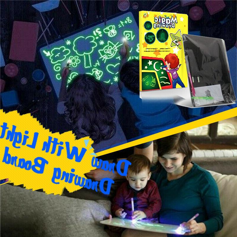 A4 Draw Fun And Drawing Board Kids Gift Toy US