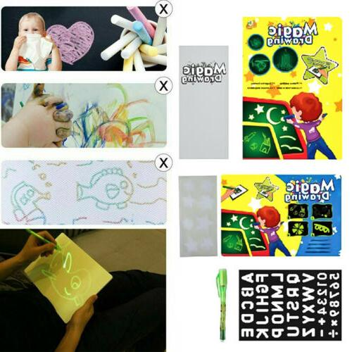 A4 Draw Light Fun Drawing Board Kids Educational Toy