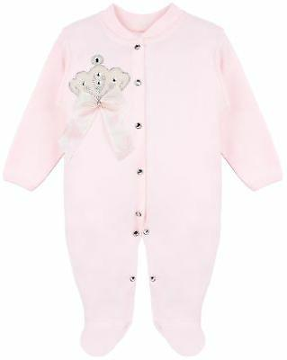 Lilax Jewels Crown Layette 3 Piece Gift 0-3 Pink Crown