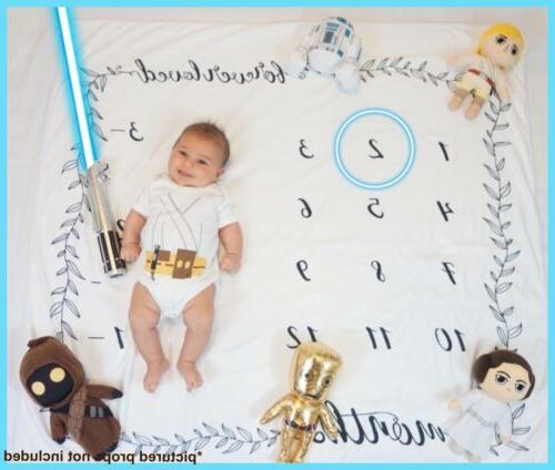 Baby Milestone Blanket - Monthly Photography Photo Prop - Gr