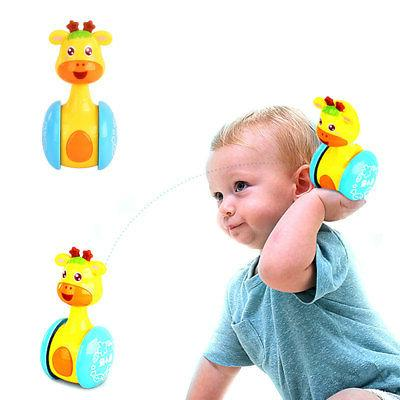 Baby Tumbler Doll Toys Bell Learning Toys Educational Music