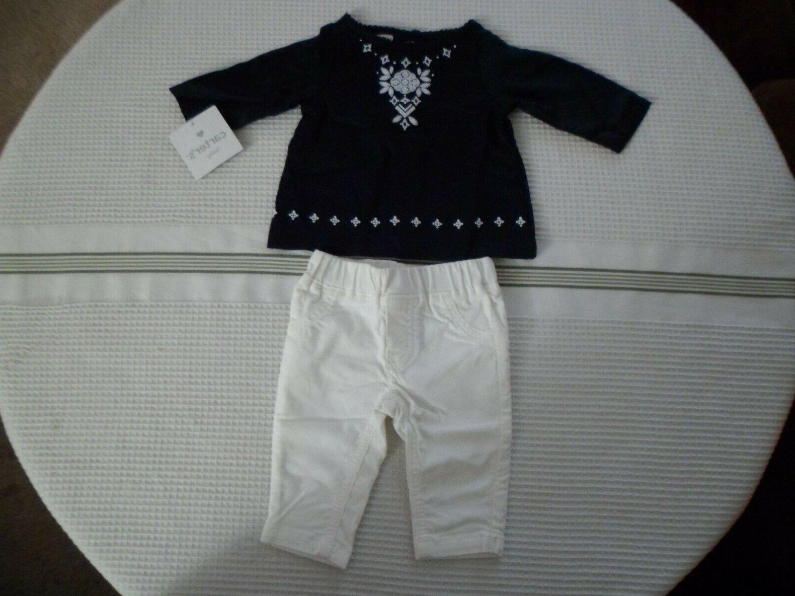 carter s baby girl layette 2 piece