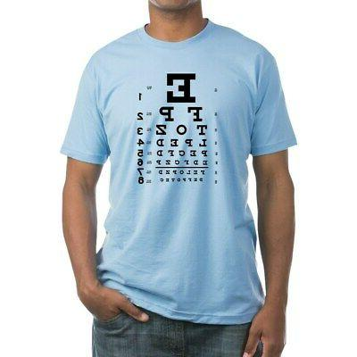 eye chart gift fitted t shirt fitted