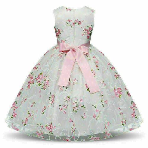 Floral Girl Baby Party Formal Dresses new