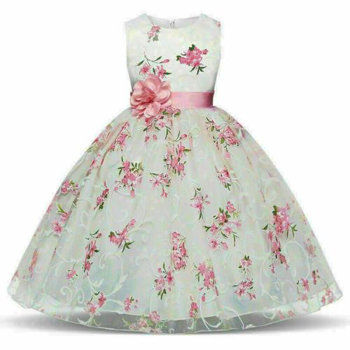 Floral Girl Dress Baby Formal Tutu Gifts new