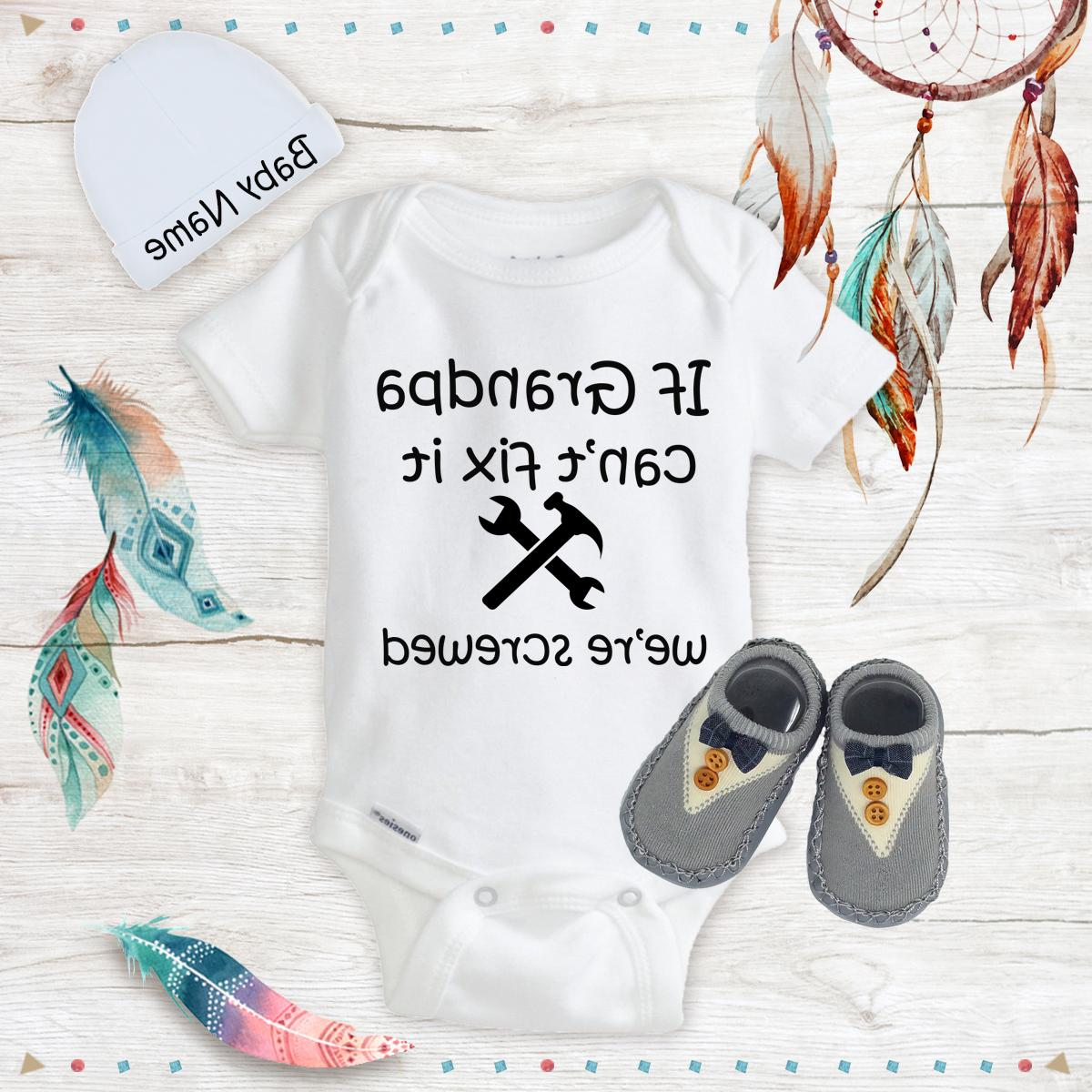 funny grandpa baby boy clothes onesies name