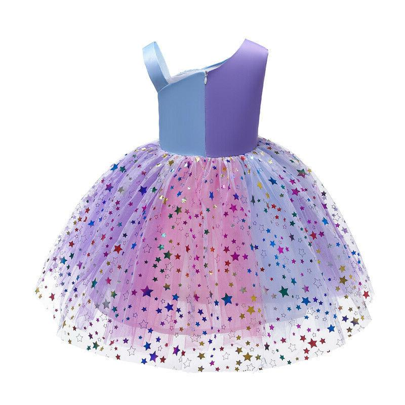 Girls Sequin Babies Party Princess Tulle Dresses