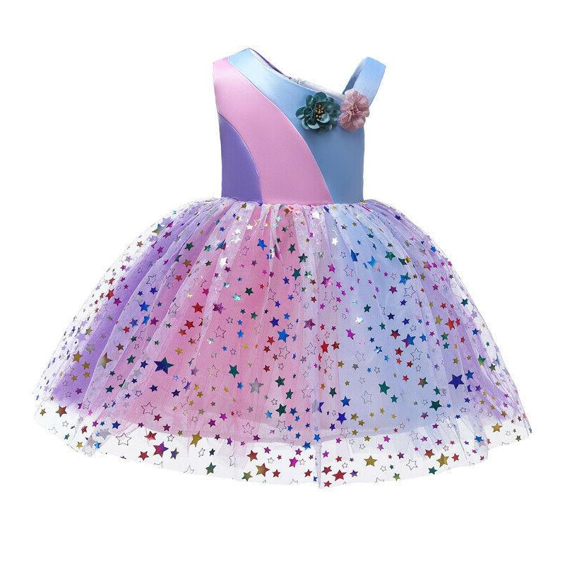 Girls Flower Babies Bridesmaid Party Princess Tulle Dresses