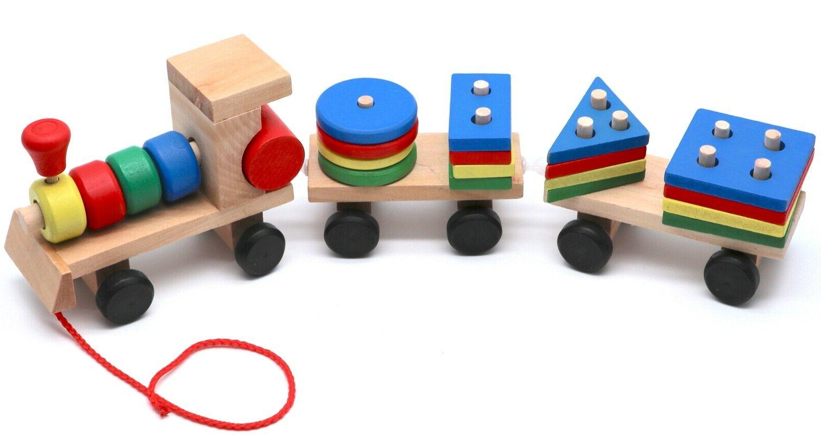 Montessori Train with Figures for Babies Gifts
