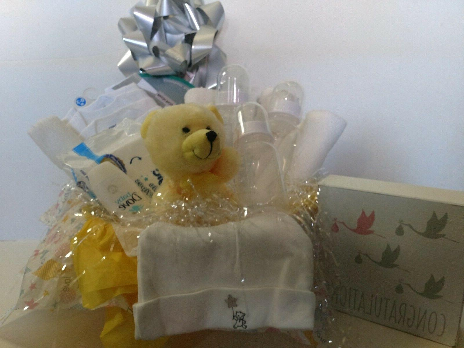 New Baby Basket Boy/Girl Hand Crafted