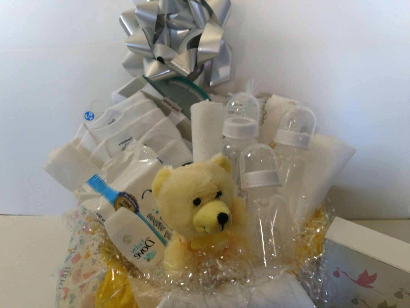new baby gift basket boy girl hand