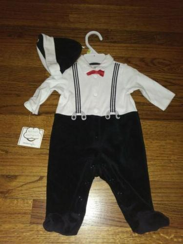 new boys infant 3m outfit romper mock