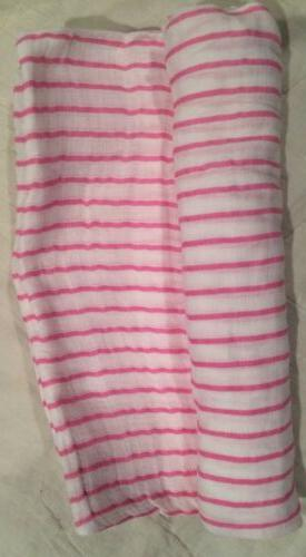 NEW Zuntano Aden Anais Swaddle Muslin Pink Soft Gift