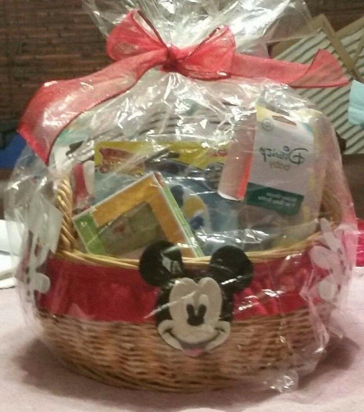 "PERFECT BABY GIFT ! ""DISNEY"" Baby Basket EXTRAS"