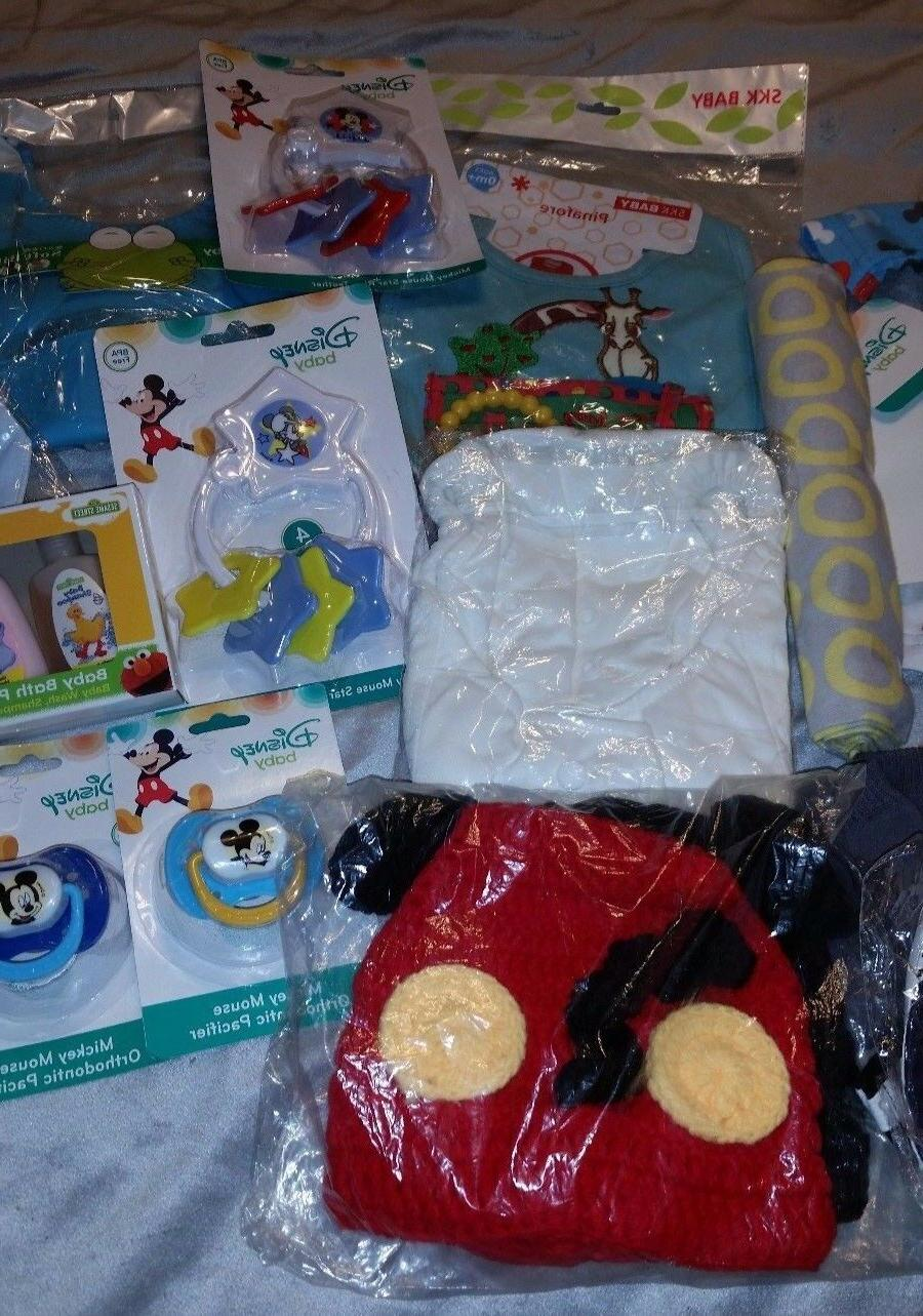 "PERFECT GIFT ! ""DISNEY"" BABY MICKY Baby Basket EXTRAS !"