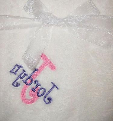 Personalized Baby Soft Blanket Name Embroidered Fleece New S
