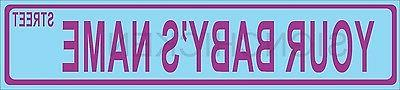 PERSONALIZED, STREET SIGN FOR BABY , gift, baby room infant,